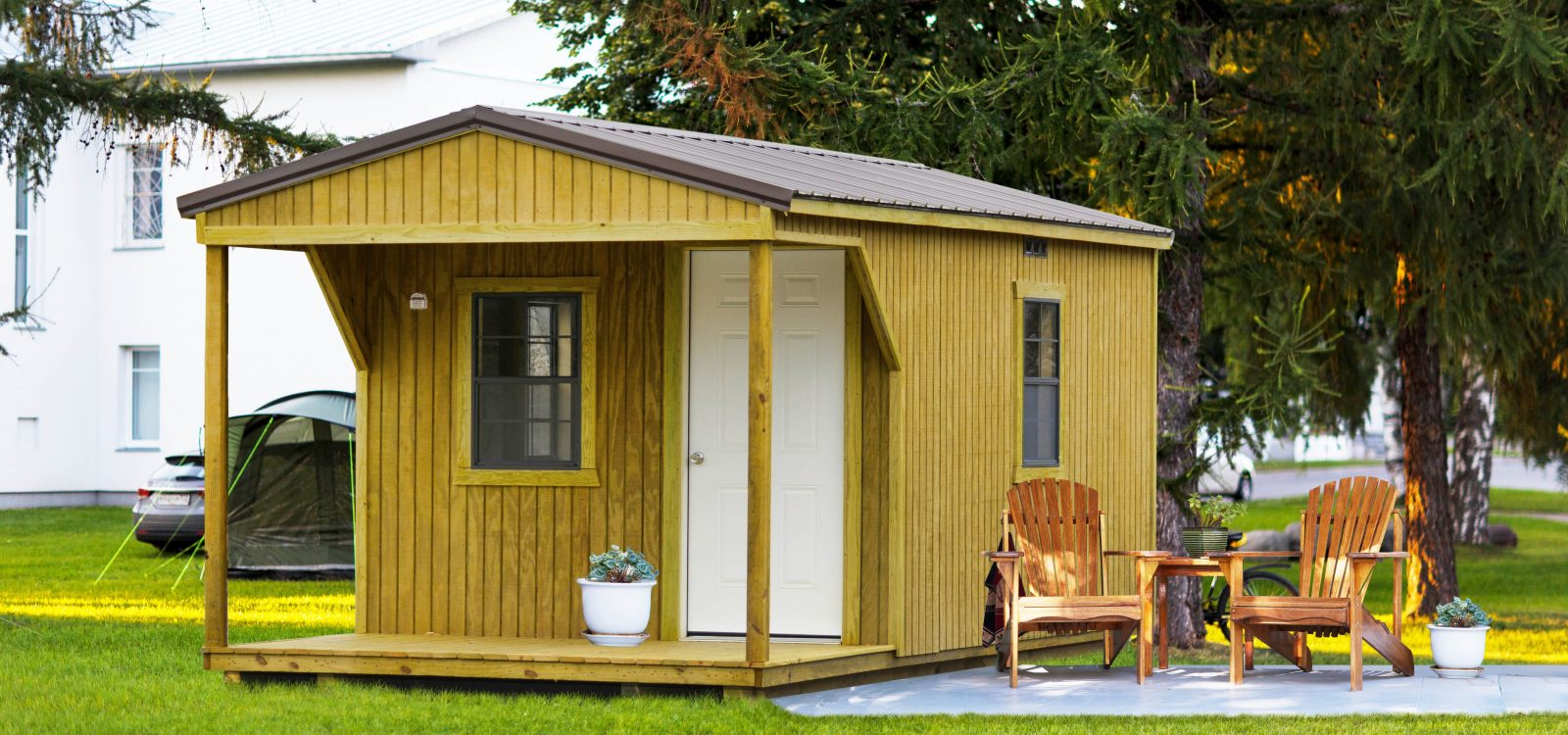 cabin sheds garages in va
