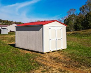 white utility shed