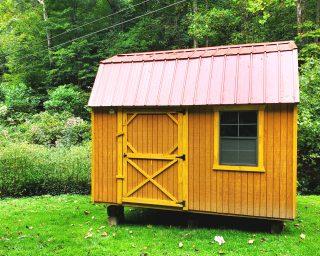 lofted garden shed storage