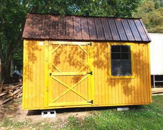 affordable lofted garden shed