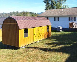 Lofted barn with windows