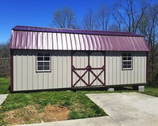 lofted barn with windows for sale