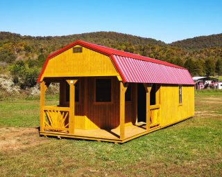 lofted cabin with porch in va