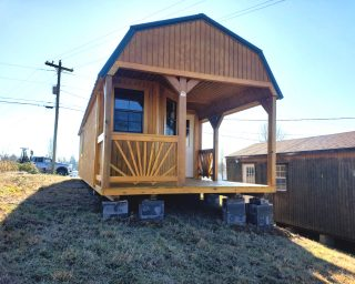 lofted cabin with porch in ky