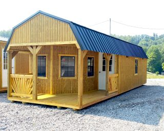 lofted cabin with porch in oh