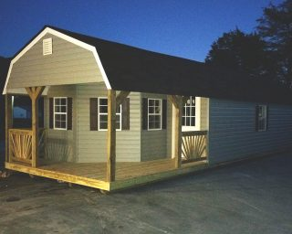 lofted cabin with porch in ga