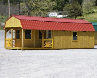 lofted cabin with porch for sale