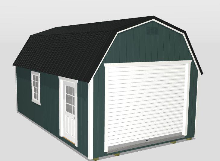 3d builder 12x20 portable garage