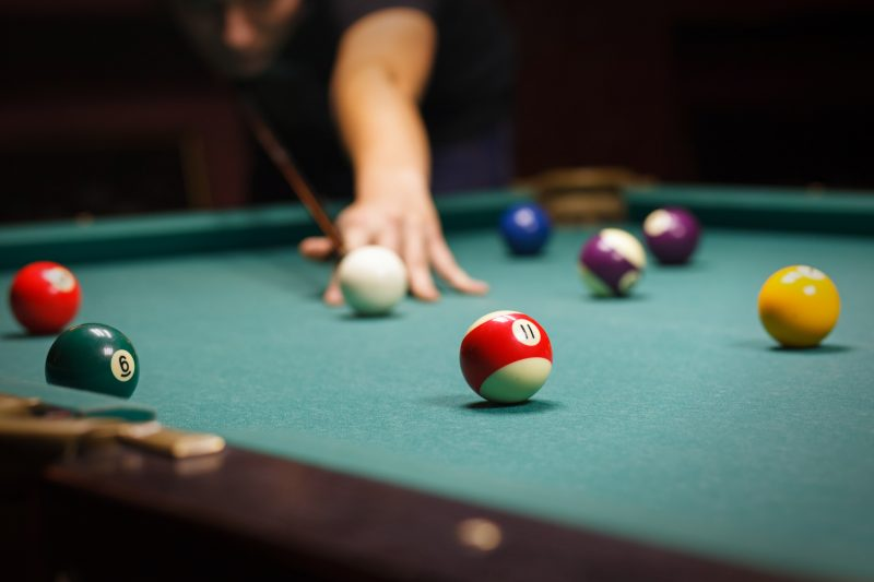 Man cave shed used for billiards