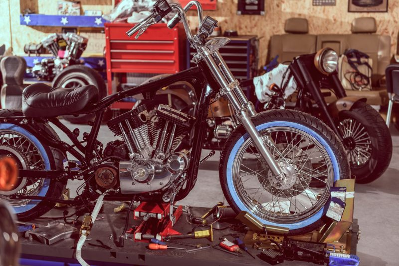 Sheds for storing motorcycles