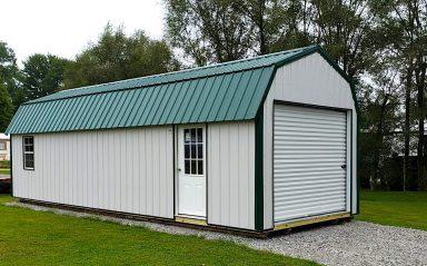green roof metal garage