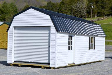 white vinyl garage side