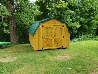 green low barn shed